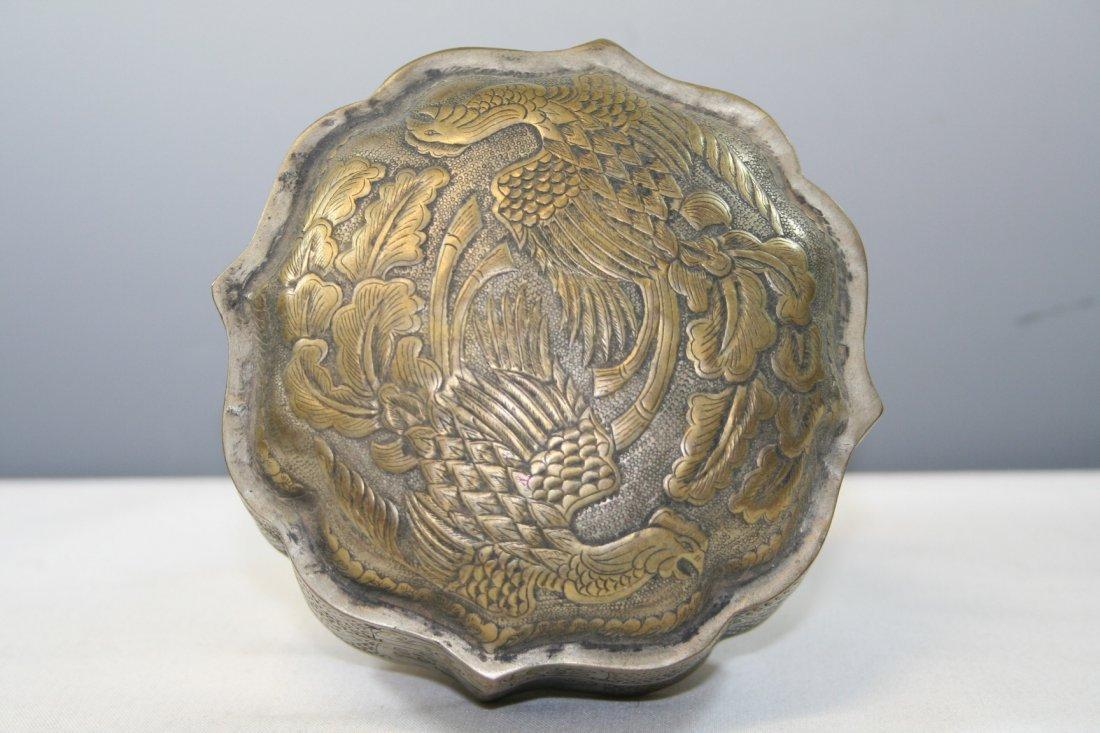 Gilt White Copper Phoenix Box - 2