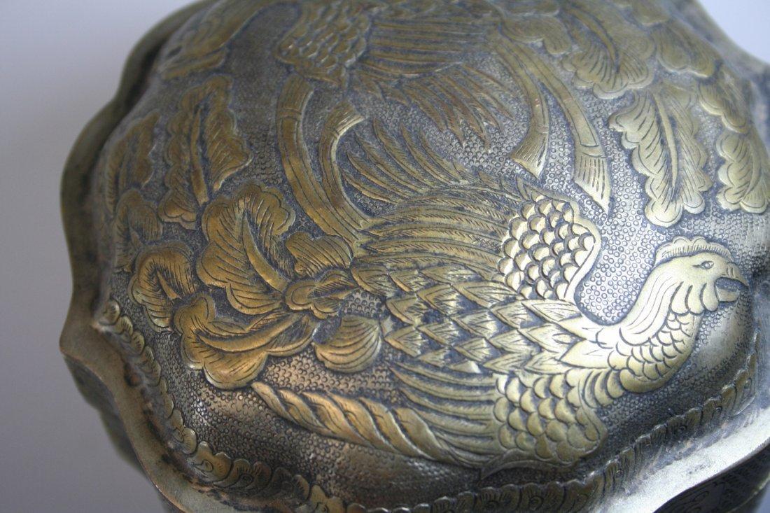 Gilt White Copper Phoenix Box - 4