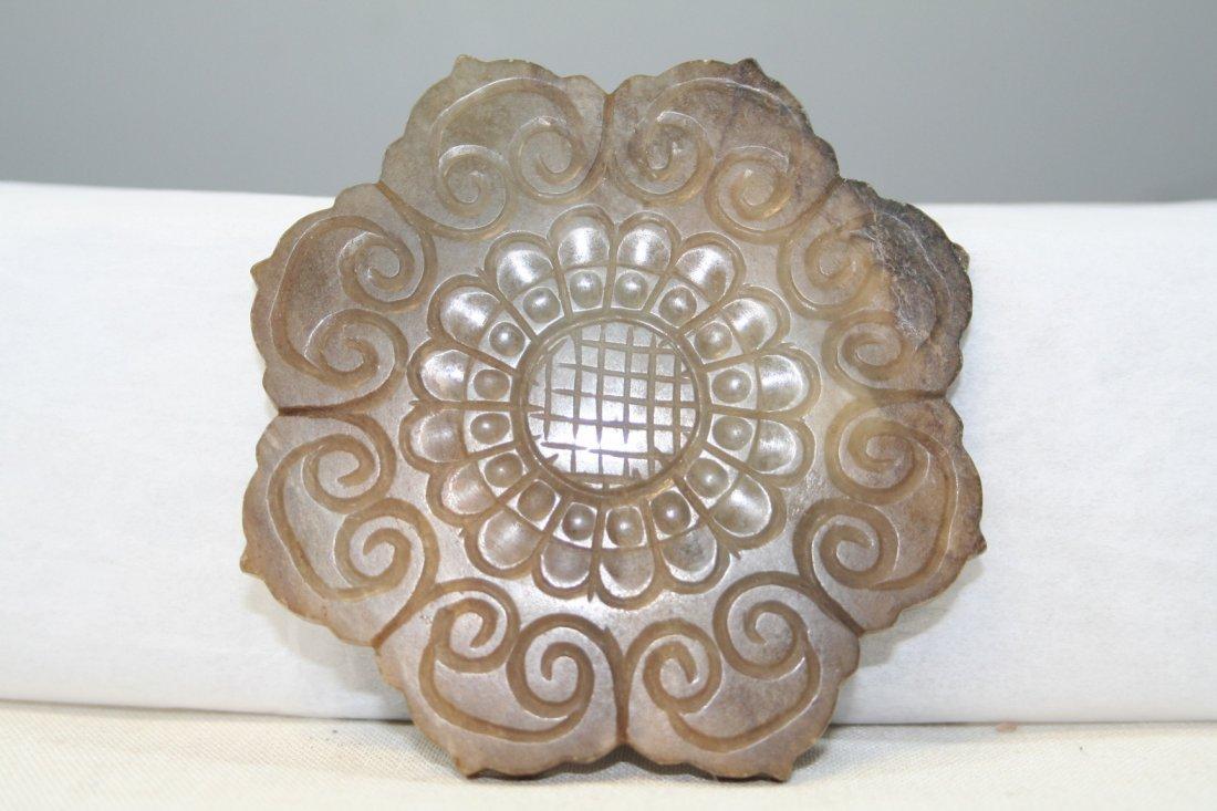 Chinese Jade Flower Disc