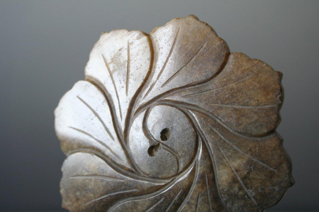 Chinese Jade Flower Disc - 4