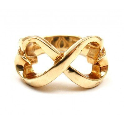 TIFFANY & CO. 18K  PICASSO DOUBLE INFINITY HEART RING