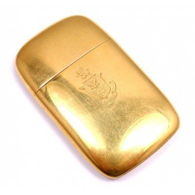 TIFFANY & CO. 18K GOLD 1925 GUNTHER MATCH BOX