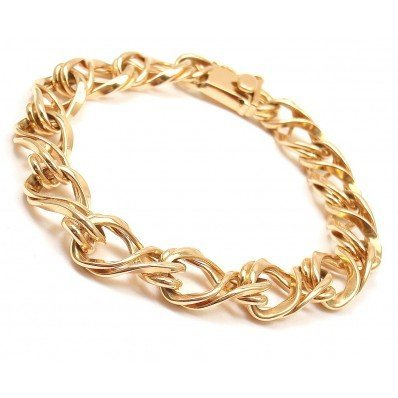 TIFFANY & CO. 14K YELLOW GOLD CURVED LINK BRACELET