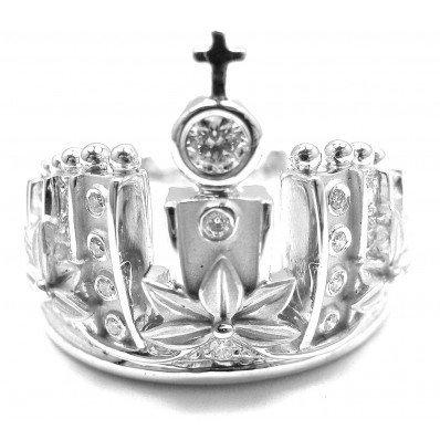 CARRERA Y CARRERA 18K  W.G. RUSSIAN CROWN DIAMOND RING