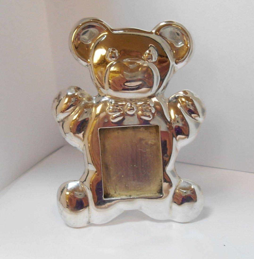 VINTAGE TEDDY BEAR STERLING SILVER 925 PICTURE FRAME