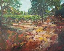 STEPHEN SHORTRIDGE HOMESTEAD VINEYARD OIL ON CANVAS