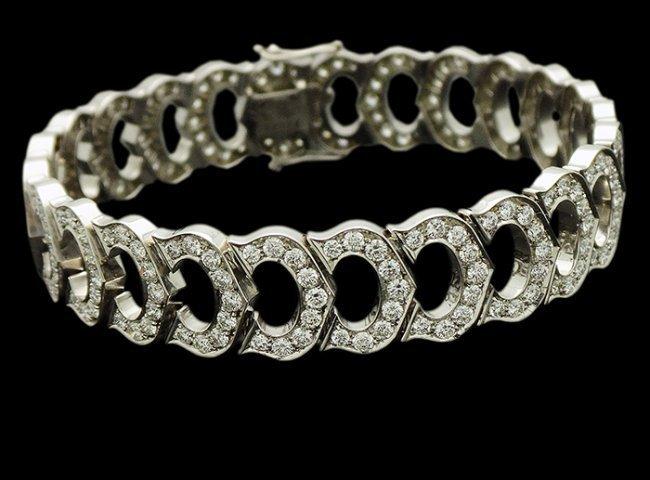 18KT GOLD CARTIER DIAMOND BRACELET