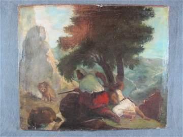 Attributed to Eug�ne DELACROIX (1798-1863) Oil on