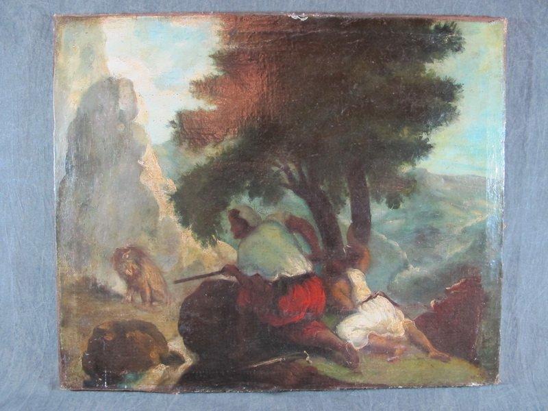 Attributed to Eugène DELACROIX (1798-1863) Oil on