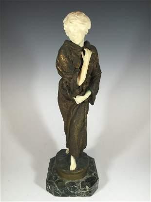 Affortunato GORY (act.1895-1925) bronze & ivory statue