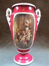 Old German or Vienna porcelain urn