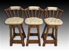 Set of 3 high bar stools