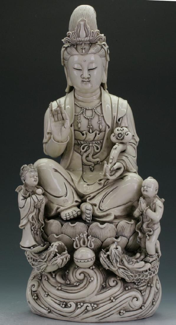 Large De Hua Guan Yin Figure