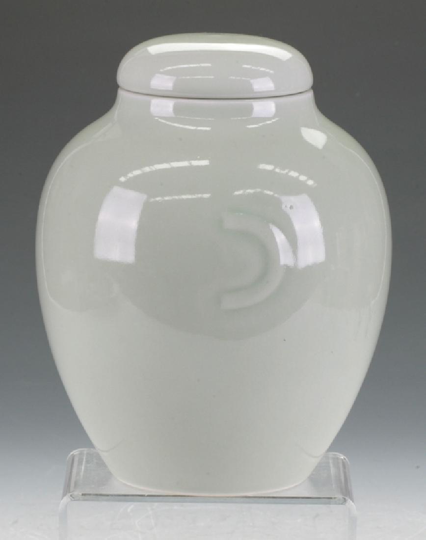 Celadon Carved Jar
