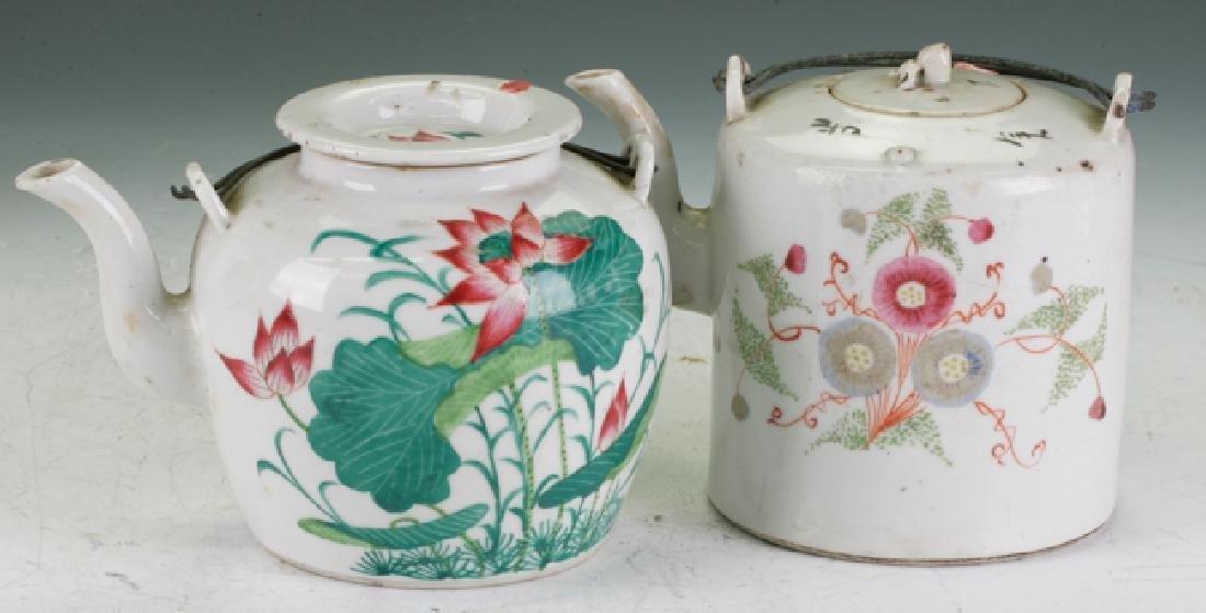Two antique tea pot