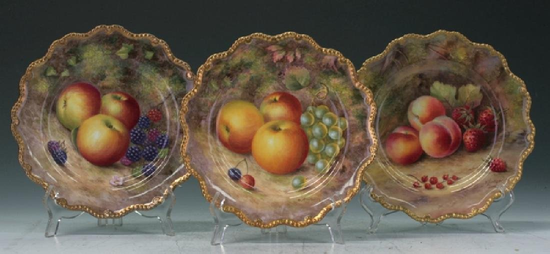 Trio Of Royal Worcester Plates