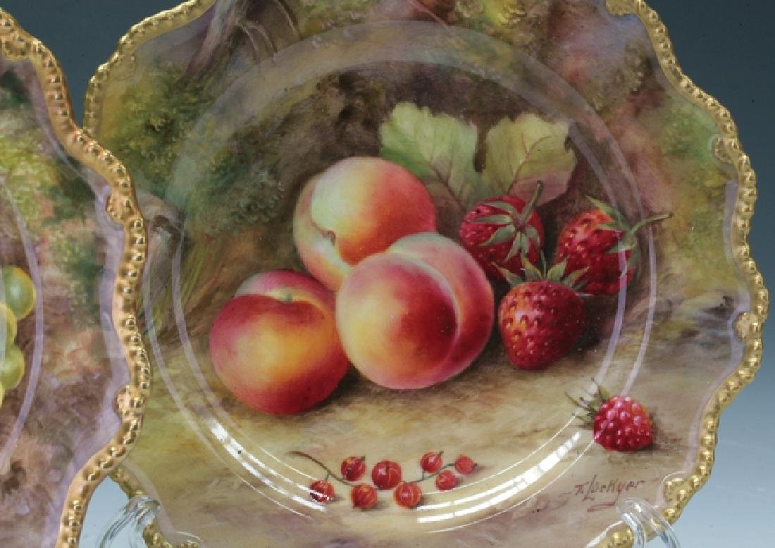 Trio Of Royal Worcester Plates - 2