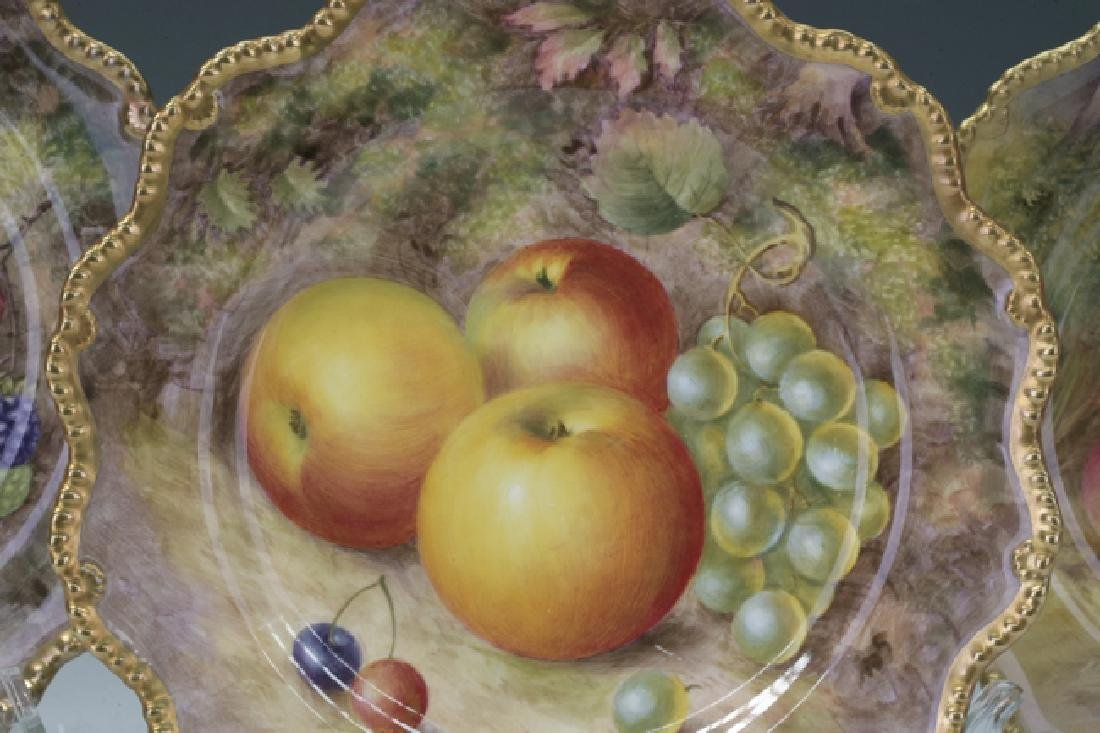 Trio Of Royal Worcester Plates - 3