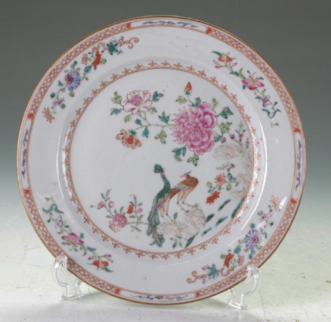 Famille Rose plate