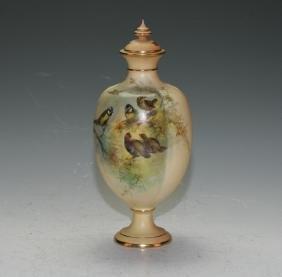 Royal Worcester Covered  Vase