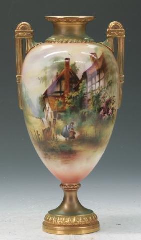 Royal Worcester Footed Vase
