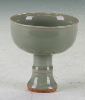 Celadon high feet cup
