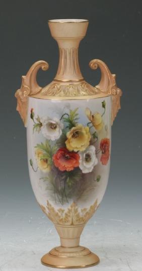 Royal Worcester Urn Shaped Vase
