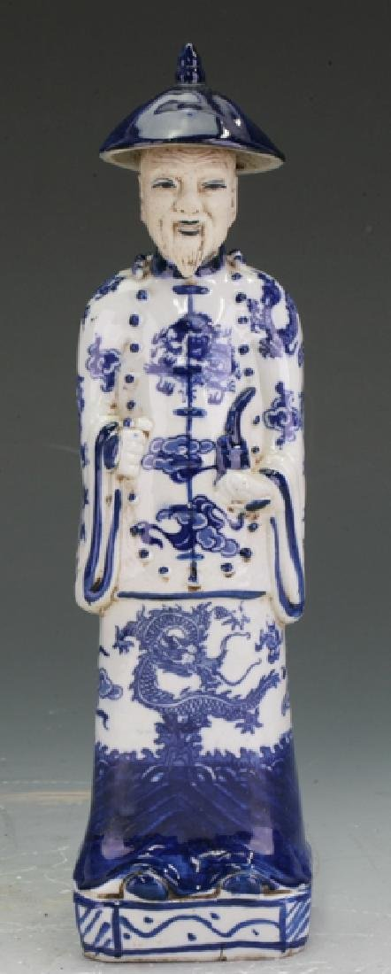 Blue and White Pottery figurine