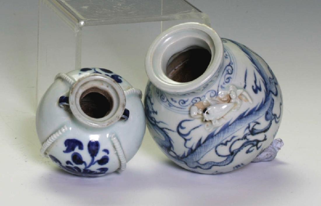 Two Blue and White Small Jars - 4