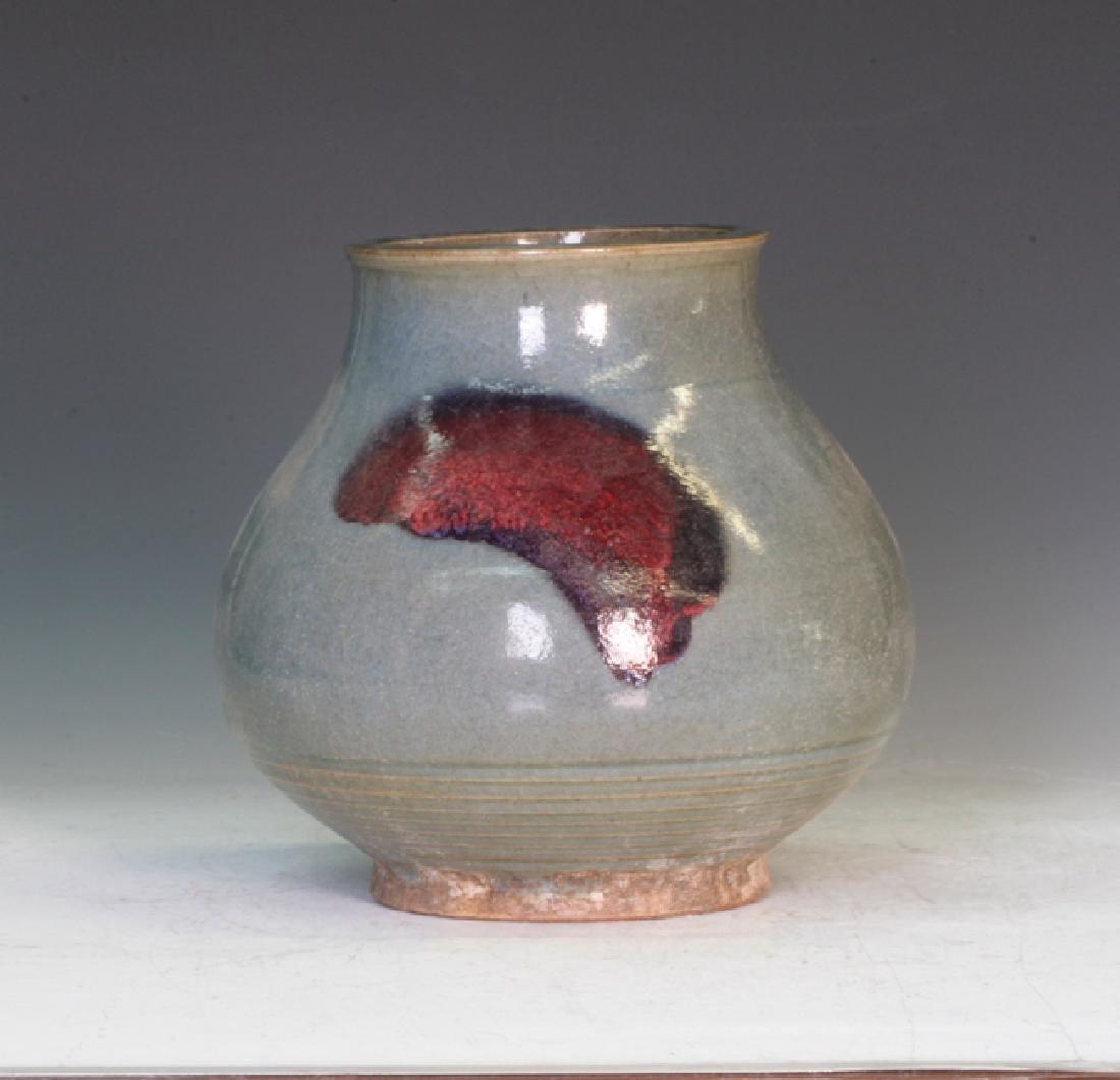 Jun ware Pottery Vase