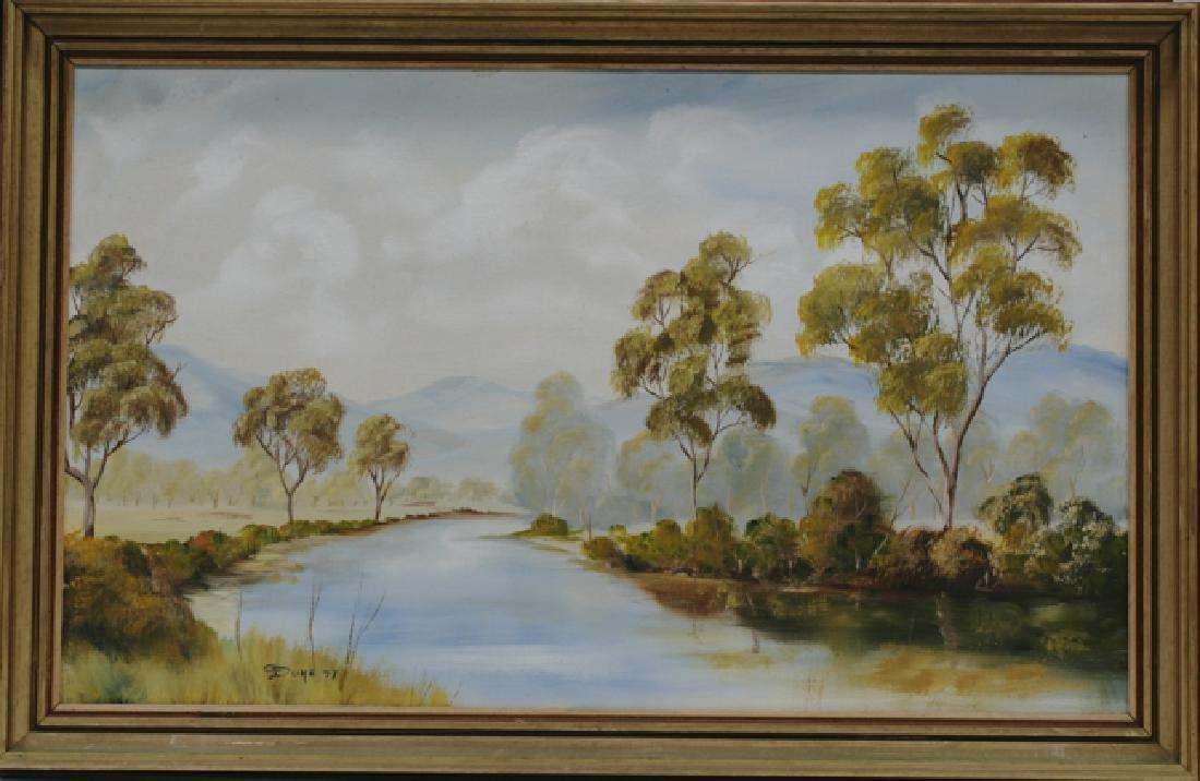 River & Mountains Landscape