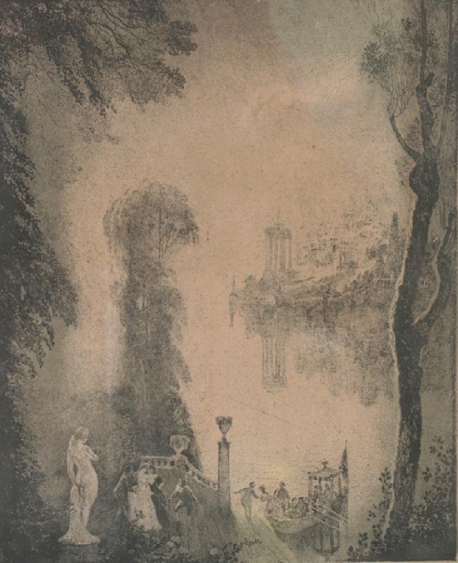 Norman Lindsay Landscape Figure