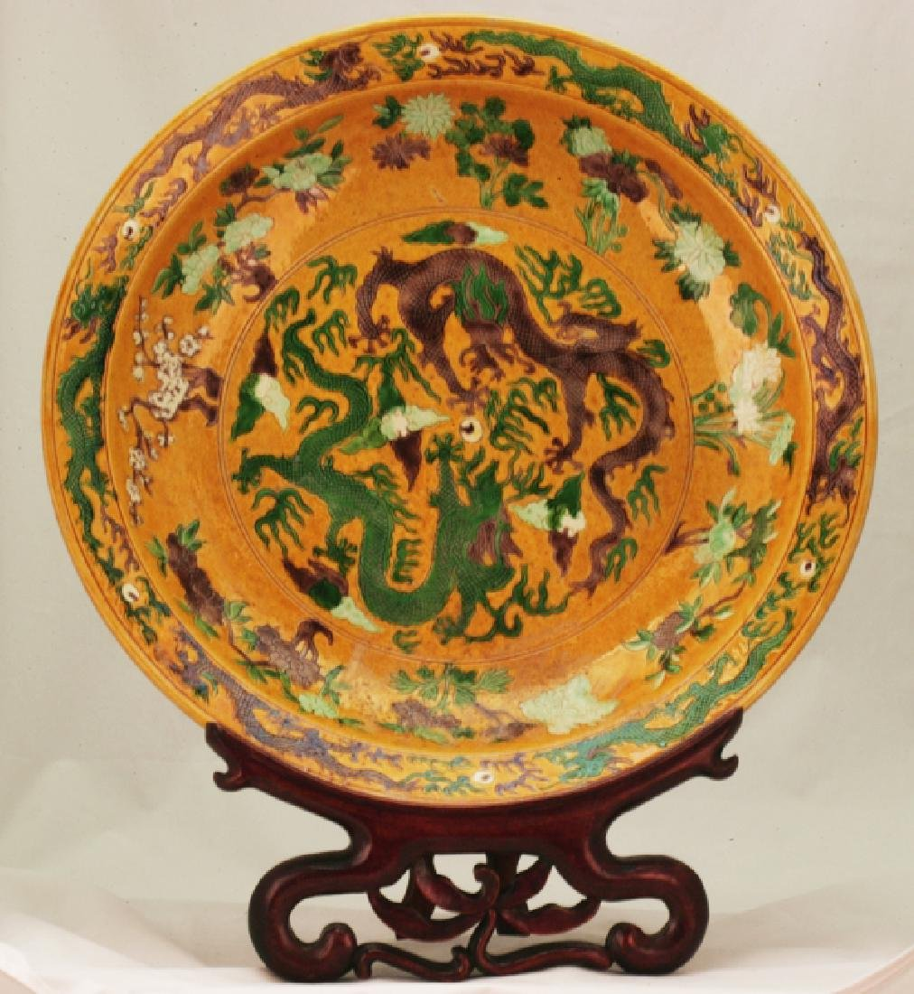 A Large Pottery Charger.
