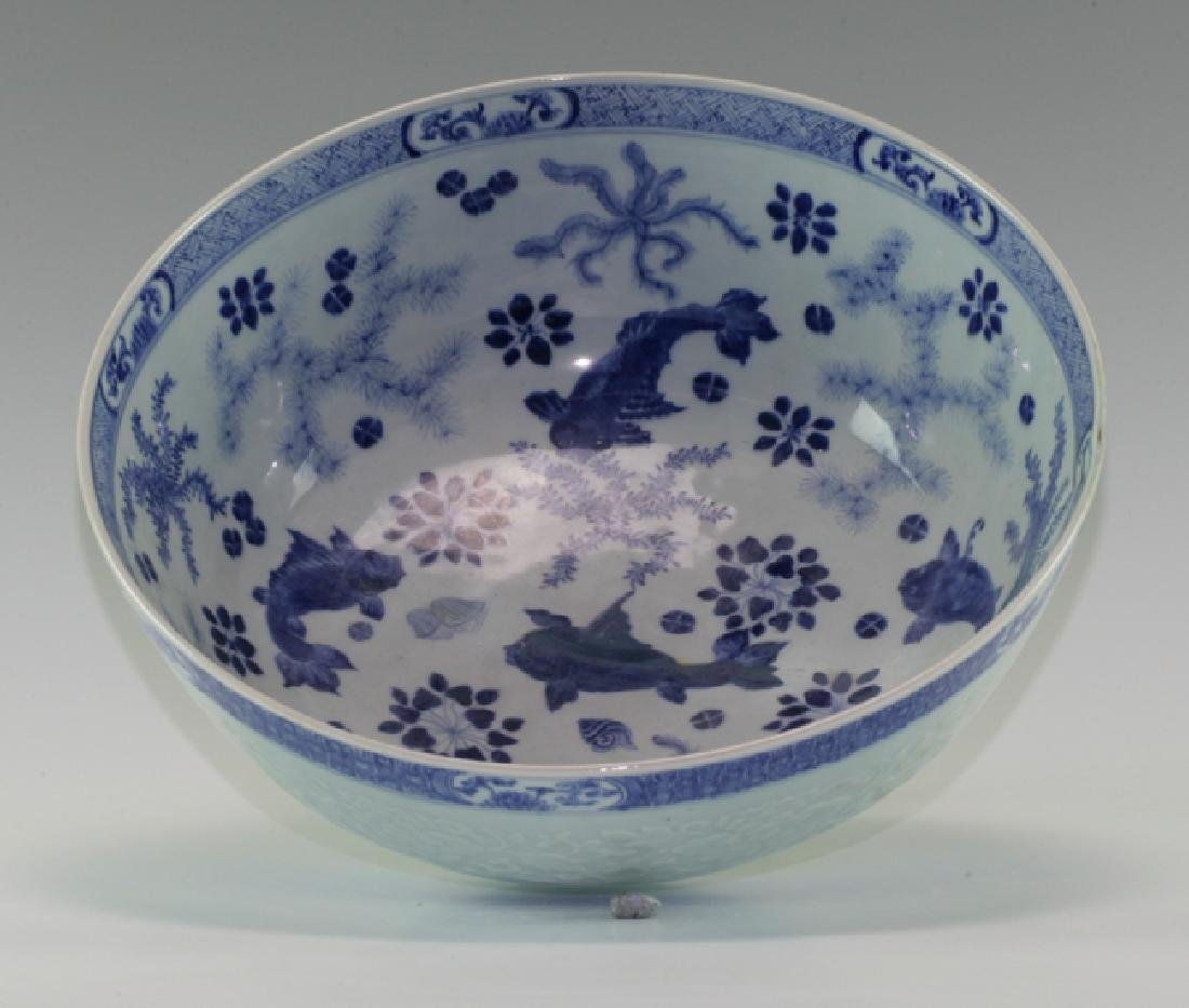 Very Large Blue and White Bowl