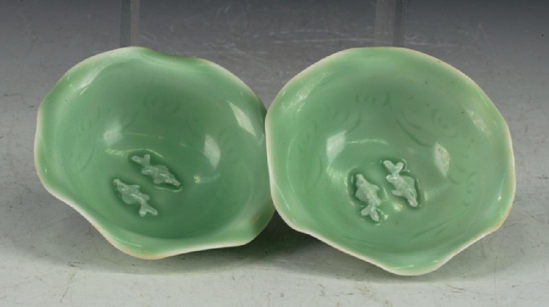 Two Chinese Celadon Bowl