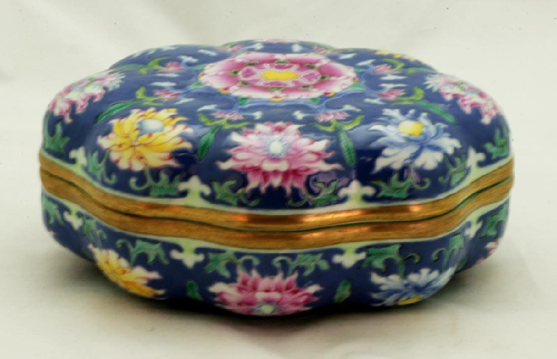 A Famille Rose Powder Box.