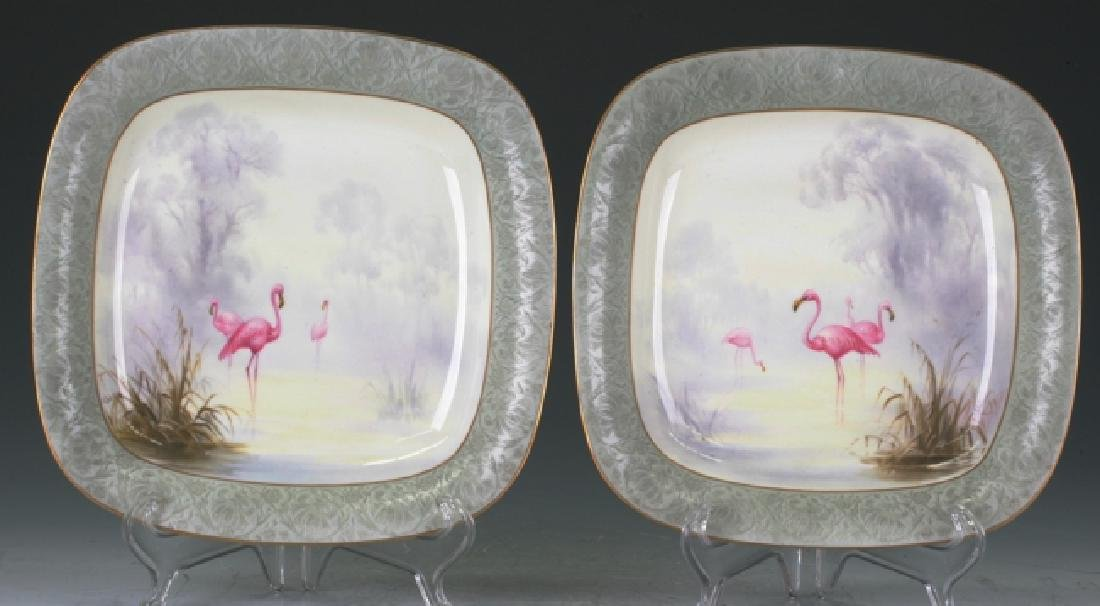 Pair Of Square Royal Worcester Plates.