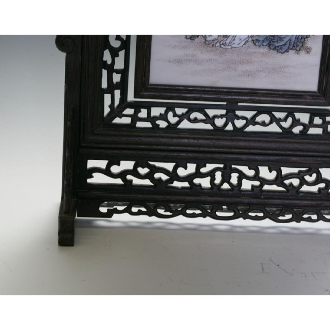 Timber Decorated Table Screen - 4