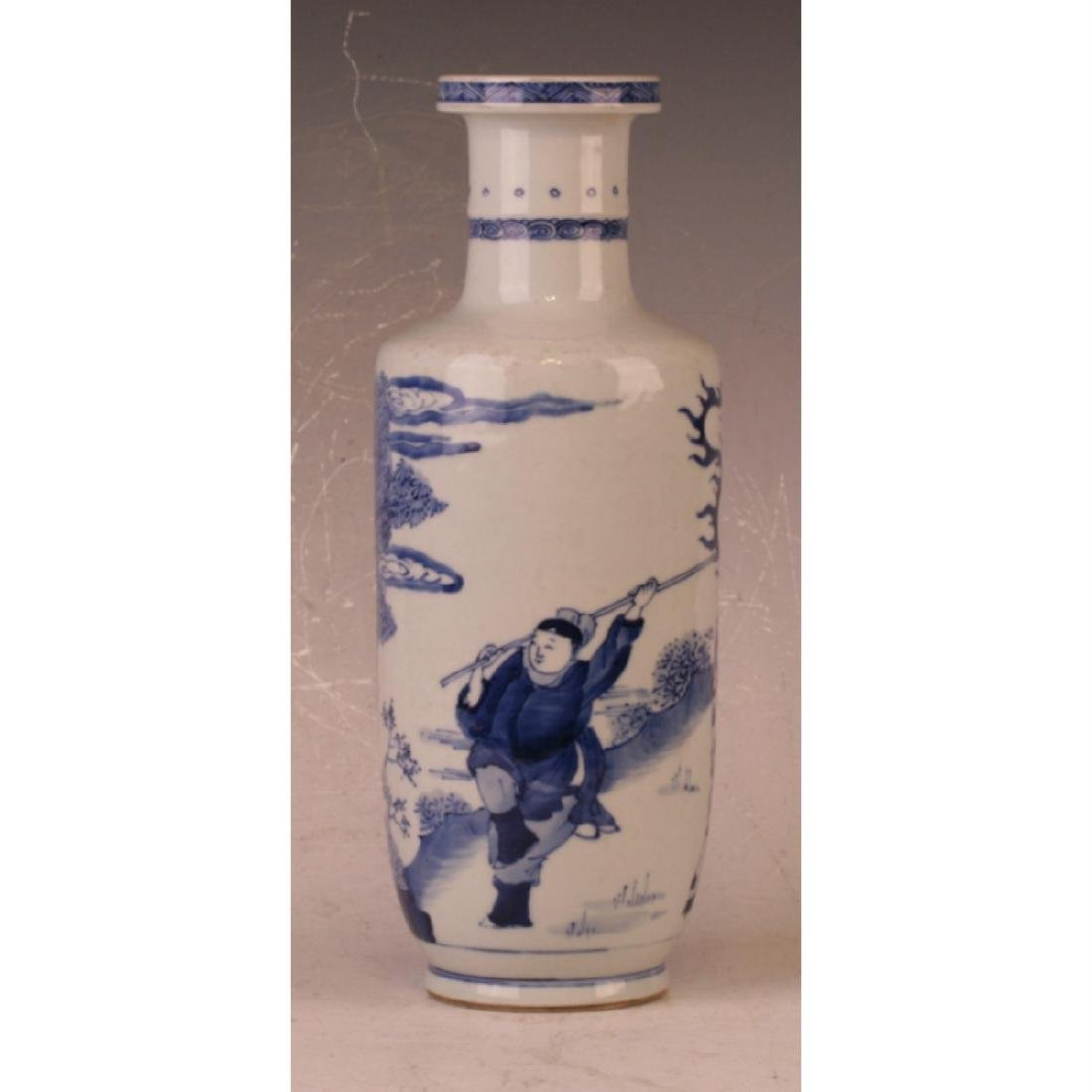 Blue And White Vase - 3
