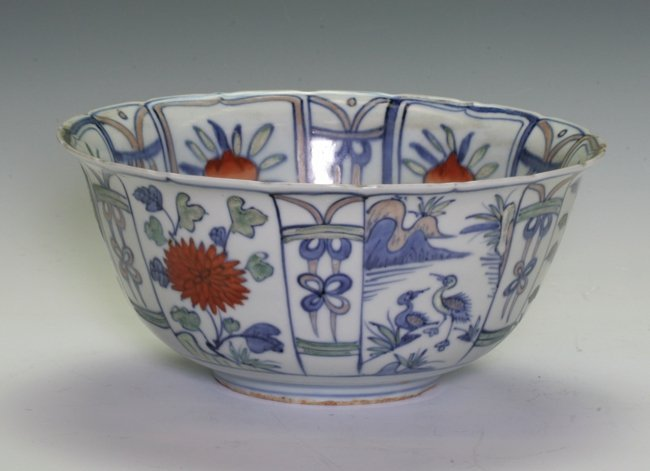 Blue and White / Red Bowl