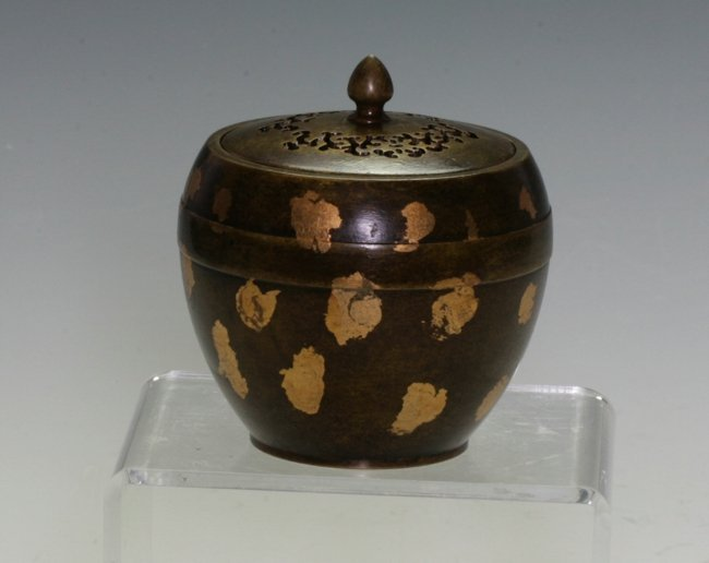 Cast Bronze Covered Bowl