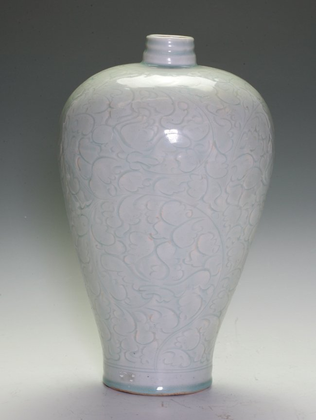 Qinbai Oval Vase