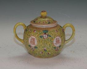 Chinese Famille Rose Sugar Bowl