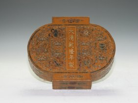 Chinese Lacquer Lantern Shape Box