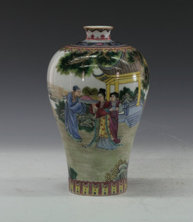 A Chinese Maeping vase