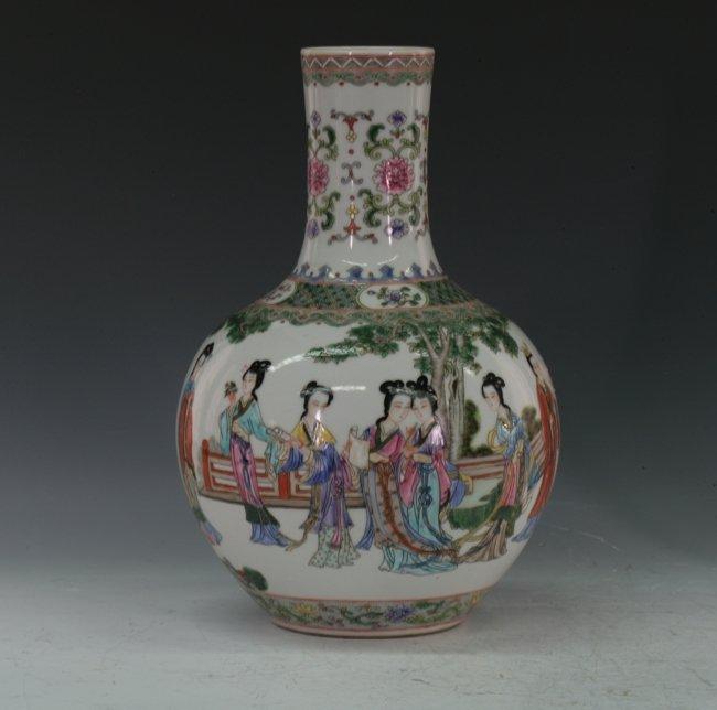 A Famille-rose vase