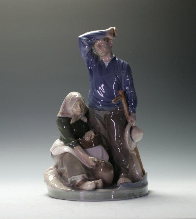 A Copenhagen figurine group