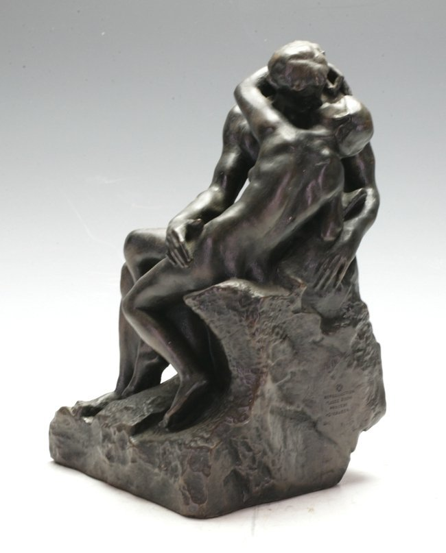 """After """"Rodin"""" Lovers figurine -"""