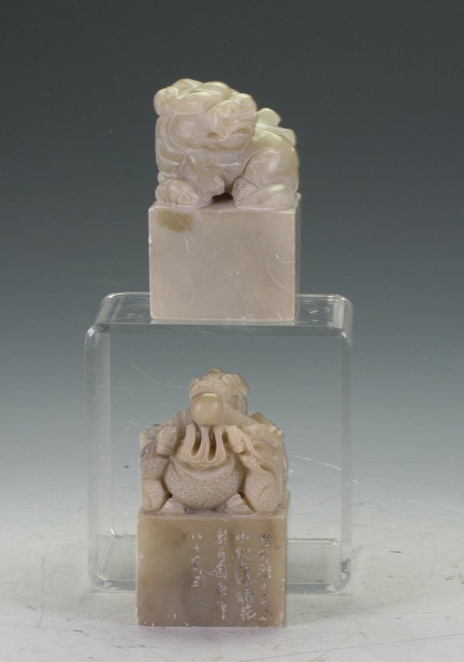 Two Very Large Soapstone Seals