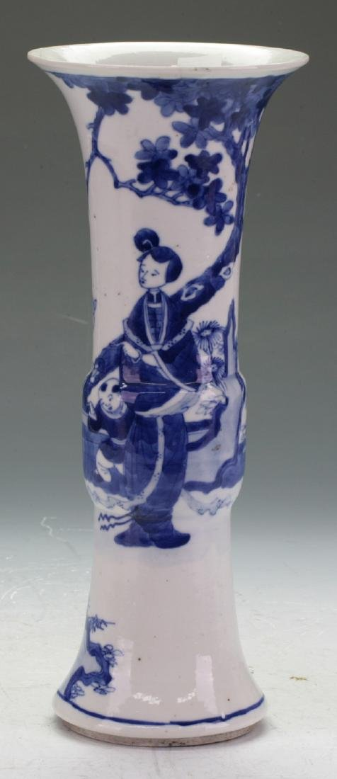 A Kang Xi blue and white vase